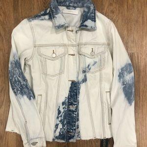Blank Nyc oversized tie dye demin jacket
